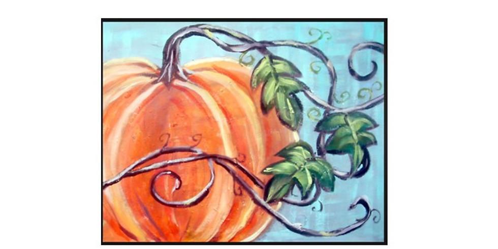 Sip & Paint, Special Late Night, Elegant Pumpkin