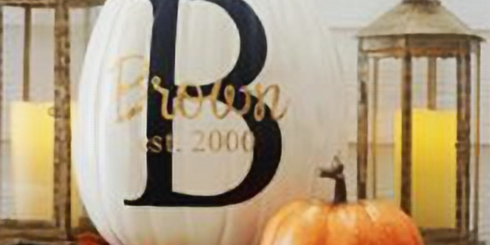 BRING YOUR PUMPKINS! Paint and monogram!