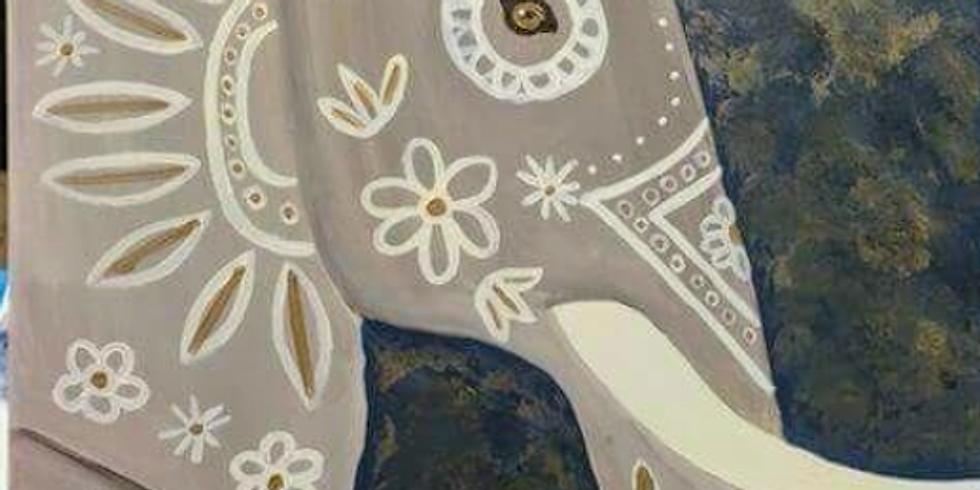 Paint & Sip: Majestic Elephant