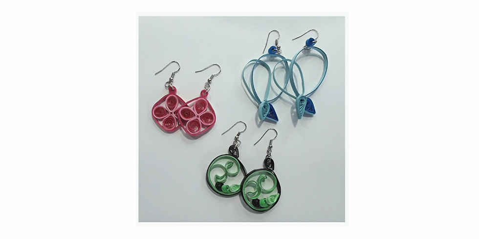 Quilling: Earrings