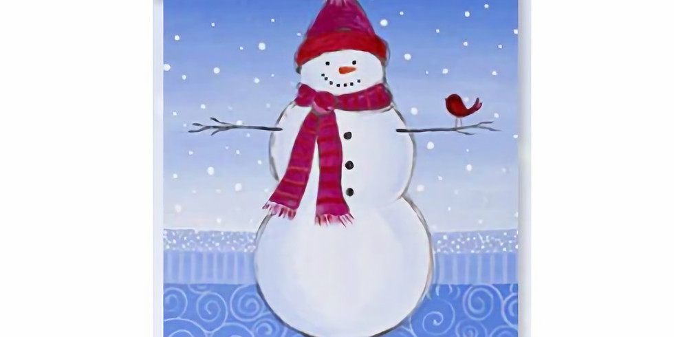 Kid's Virtual Paint - Snowman with bird