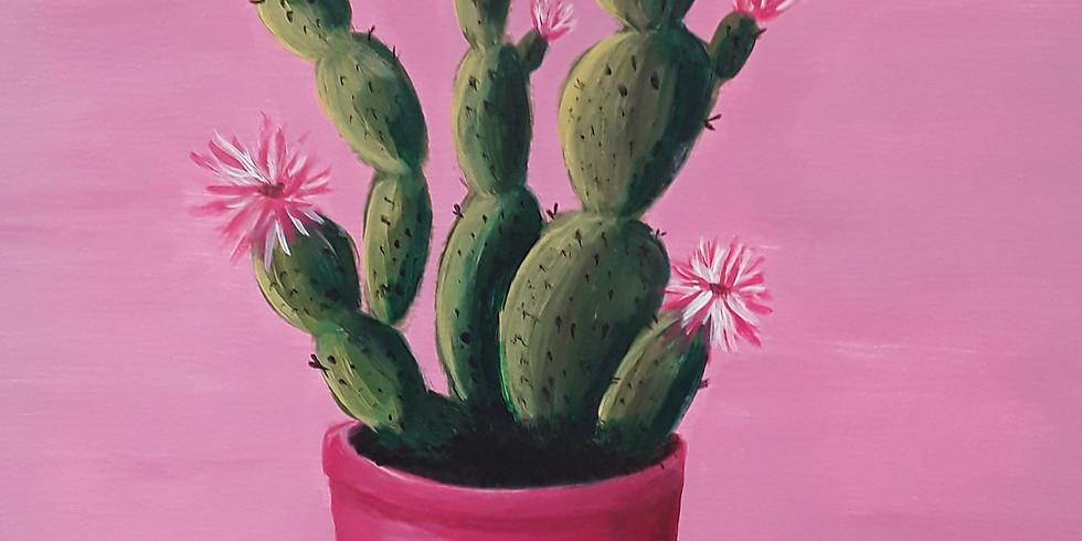 Paint & Sip: Blooming Cactus
