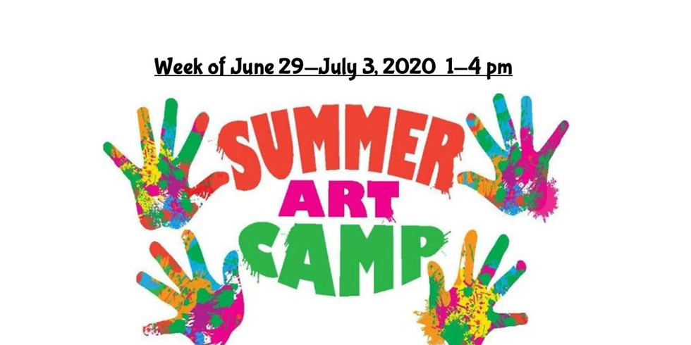 Summer Camp, JUNE 29  - JULY 3,  1 - 4 pm, Full Week  (2)
