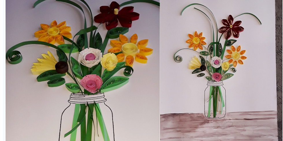 Quilling class: Spring Flower