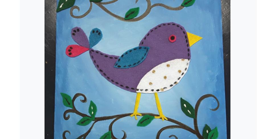 Kid's VIRTUAL Creation Class: Pretty Bird (1)