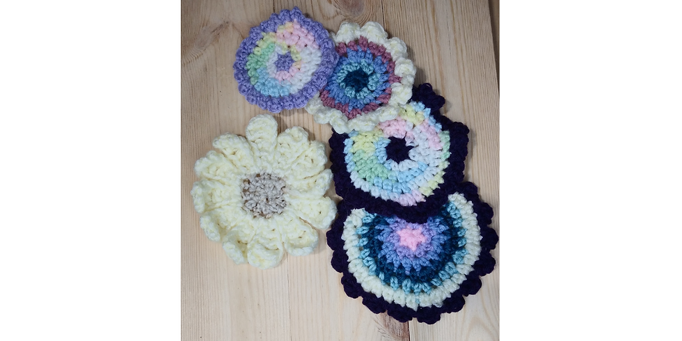 Spring Flowers Crocheted
