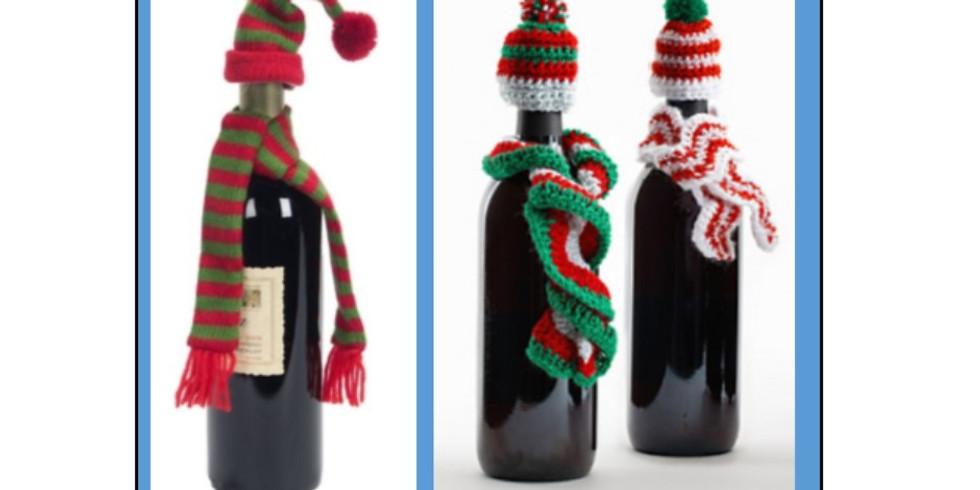 Crochet Wine Bottle Hat & Scarf