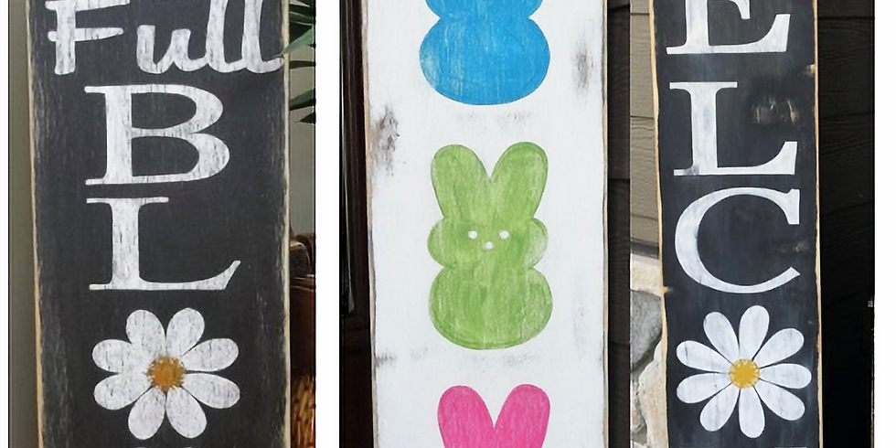 Stenciled Boards, Spring Theme