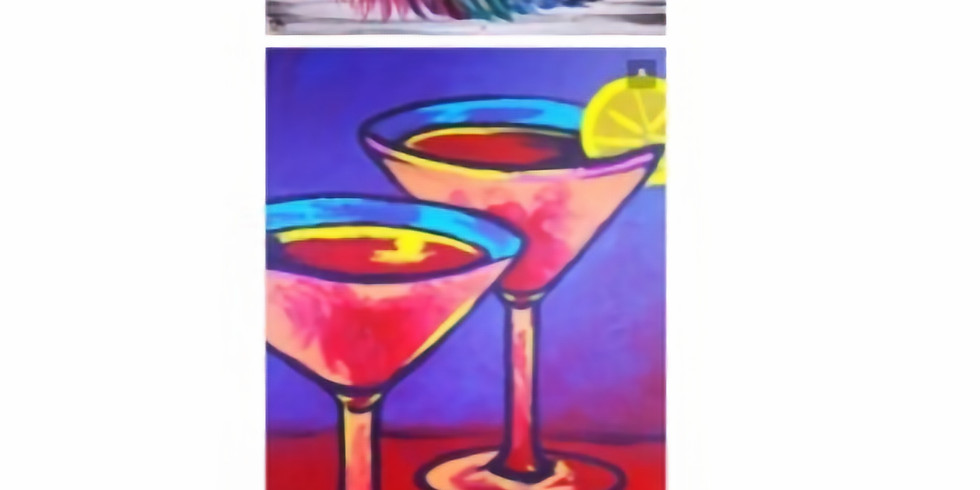 Sip & Paint 7pm Feathers on wood 10pm Martinis