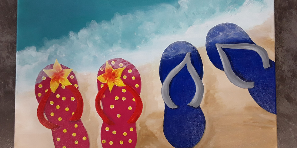 It's National Flip Flop Day! Paint and Sip to Celebrate!