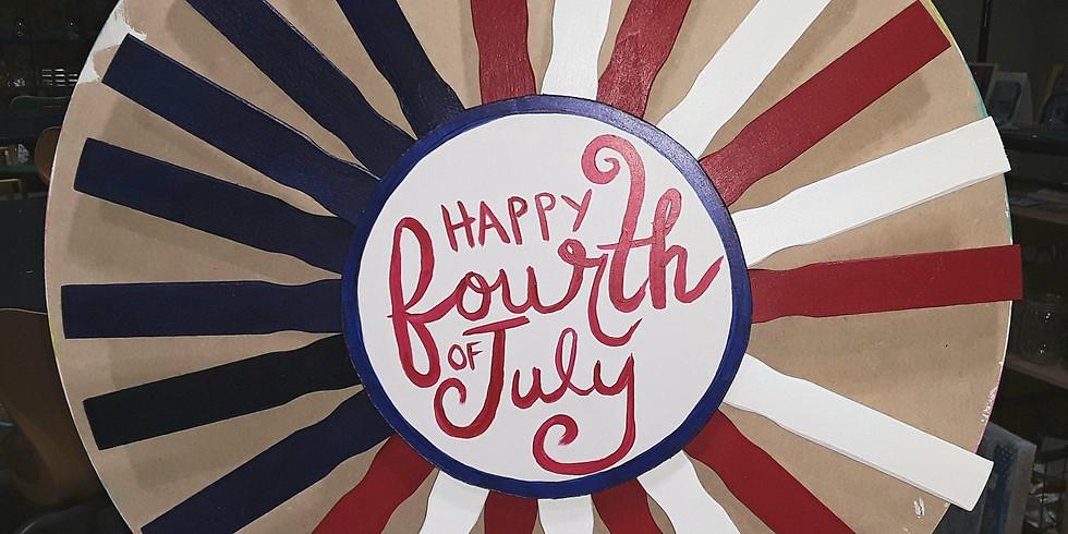 4th of July Door Hanger