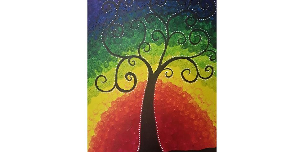 Rainbow Sip & Paint