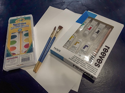 Adult Watercolor Take Home Kit