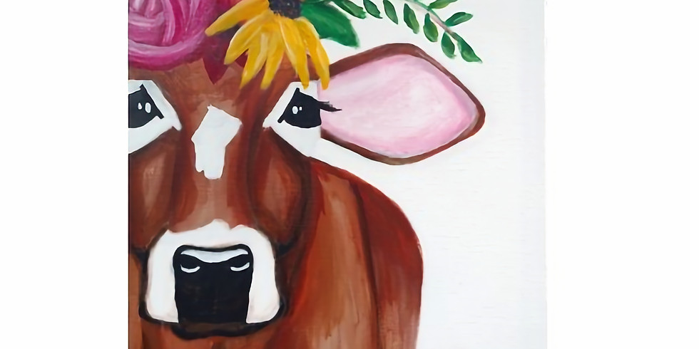 Sip & Paint: Betsy, the Flowered Cow