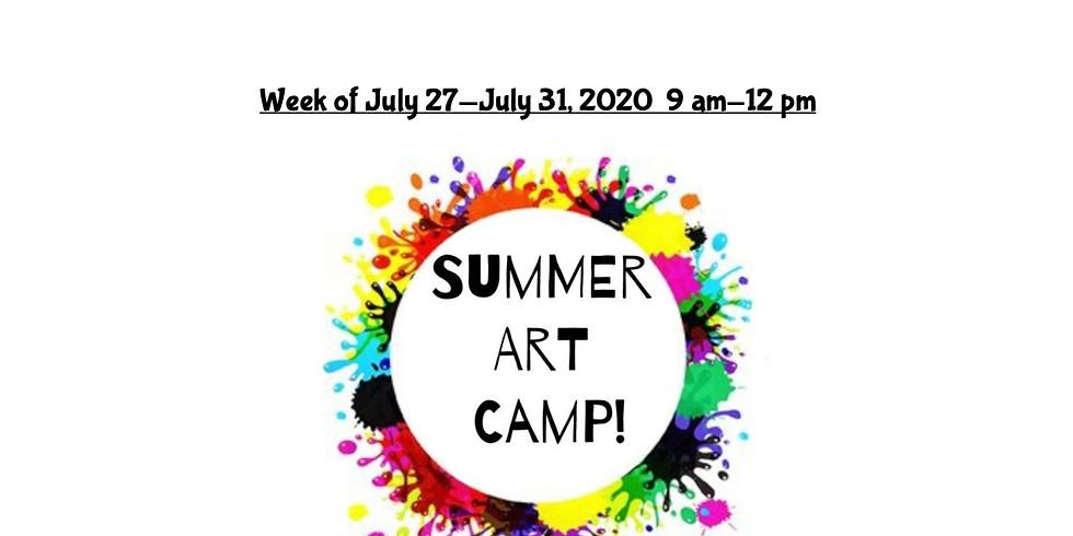 Summer Camp, JULY 27  - JULY 31,  9 am - 12 pm, Full Week
