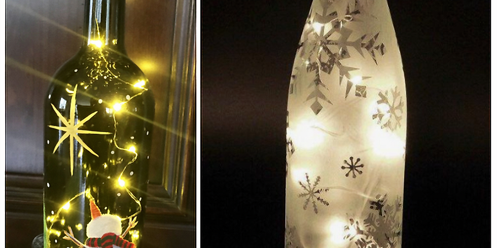 Wine Bottle: stained glass lights