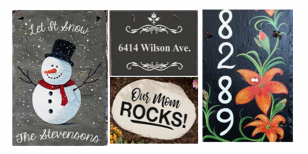 Slate Address Marker