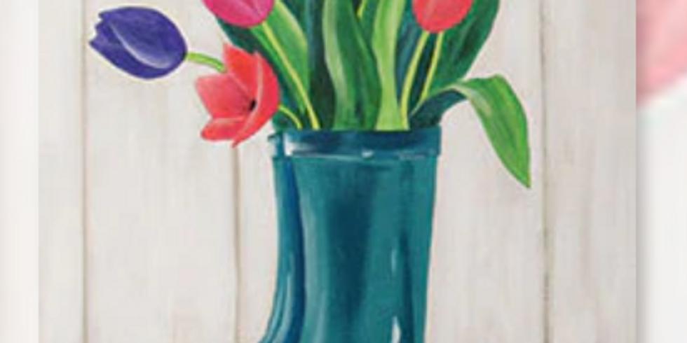 Boot Bouquet Sip & Paint