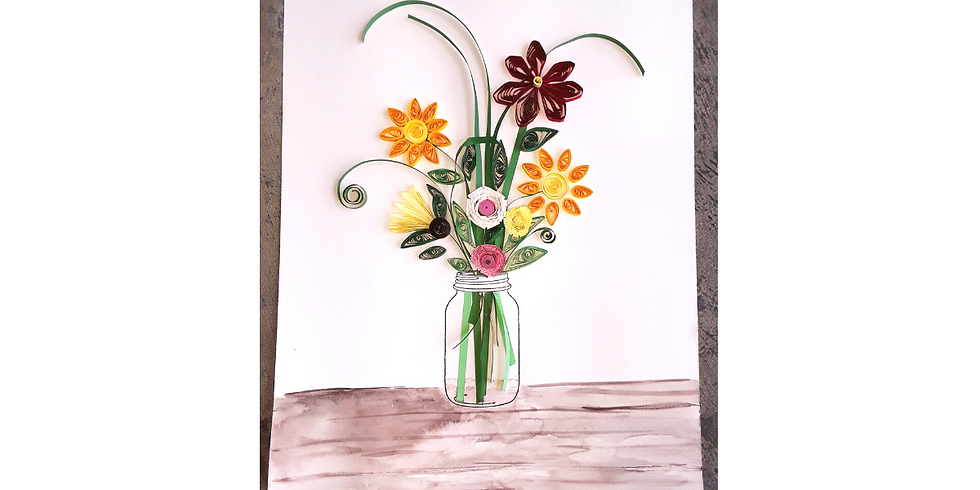 Quilling class: Spring Flowers