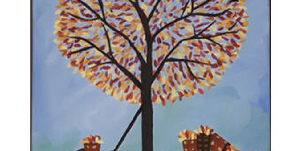 Paint Class: Thanksgiving Tree