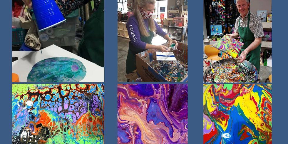 Paint Pouring : Most popular class!