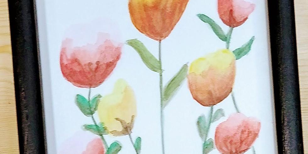 Beginner Watercolor: Spring flowers (1)