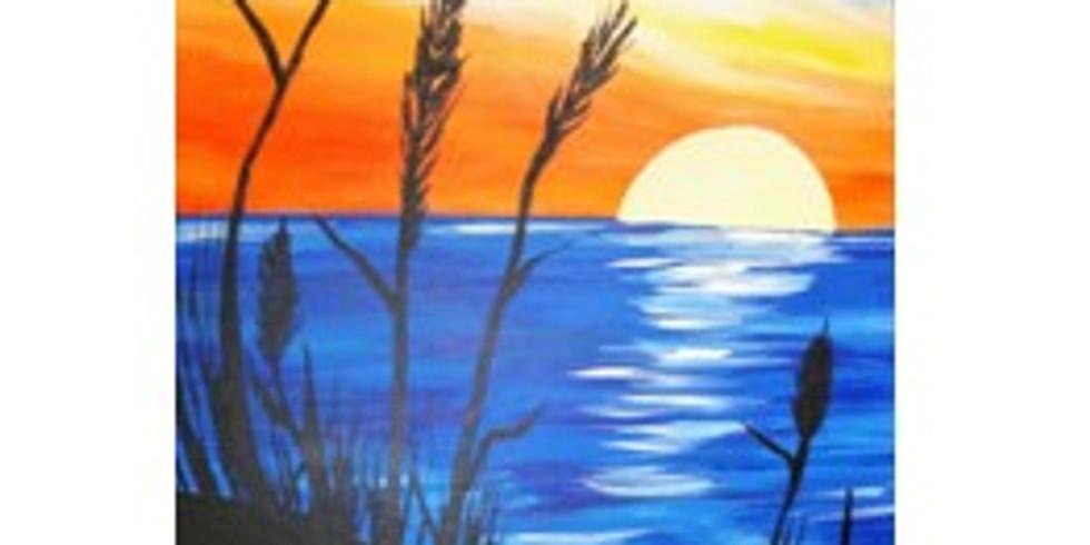 Sip & Paint a Great Beach Scene