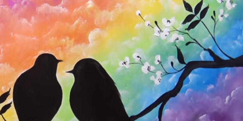 Paint & Sip: Rainbow Birds