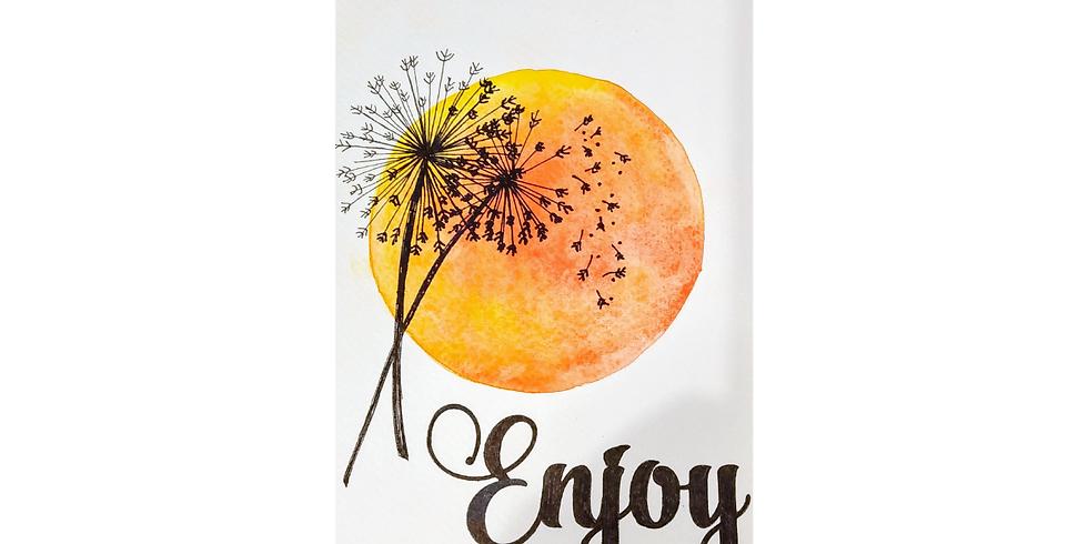 Beginner Watercolor: Dandelions Joy