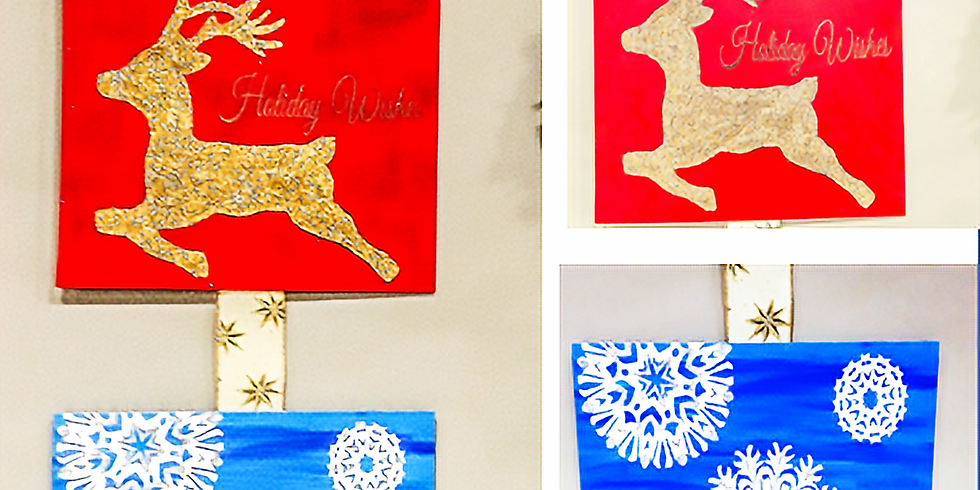Holiday Wishes, Snowflake Kisses Painting
