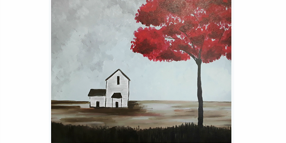 Sip & Paint, Tree and a house