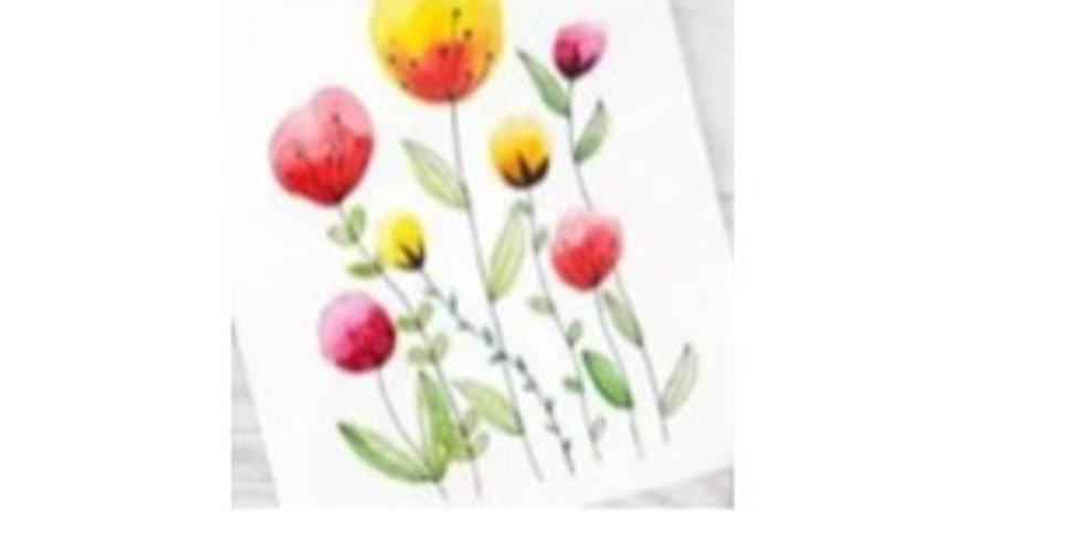 Beginner Watercolor: Spring flowers
