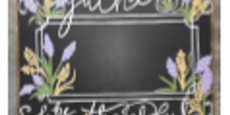 Reversible Blackboard Give Thanks, BYOB