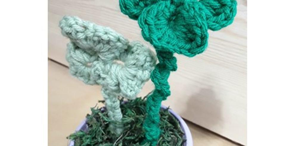 Learn to Crochet by making festive shamrocks