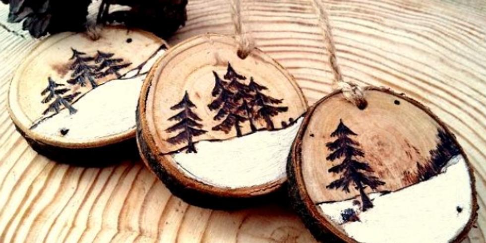 Wood burning ornaments/coasters
