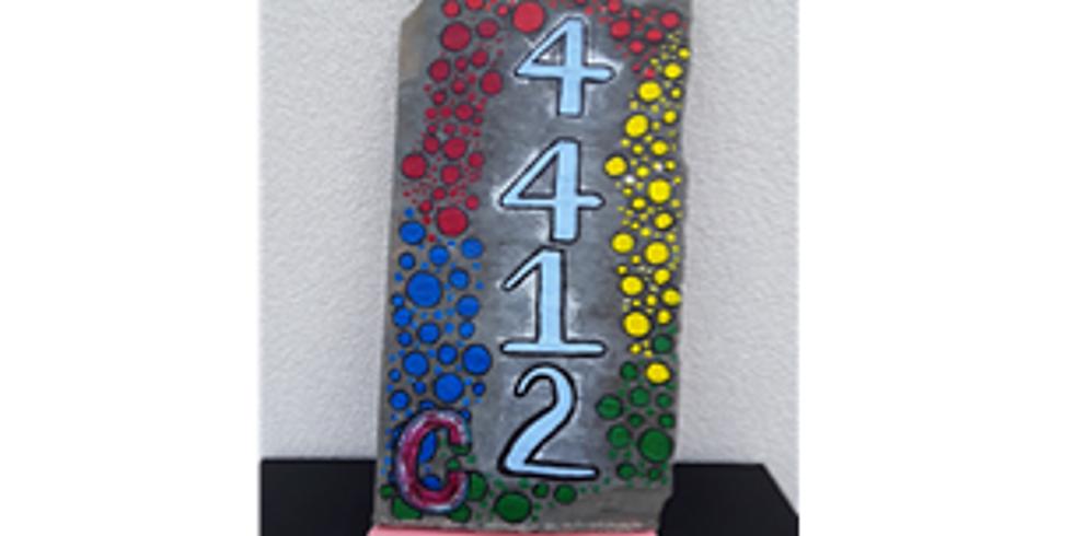 Slate Address Marker, In studio or in a Kit
