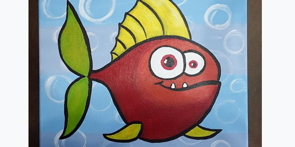 Virtual Kids' Paint Class: Fish eyes