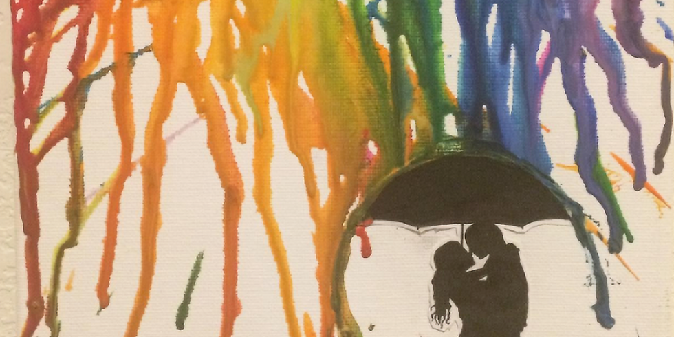 Melted Crayon Canvas picture