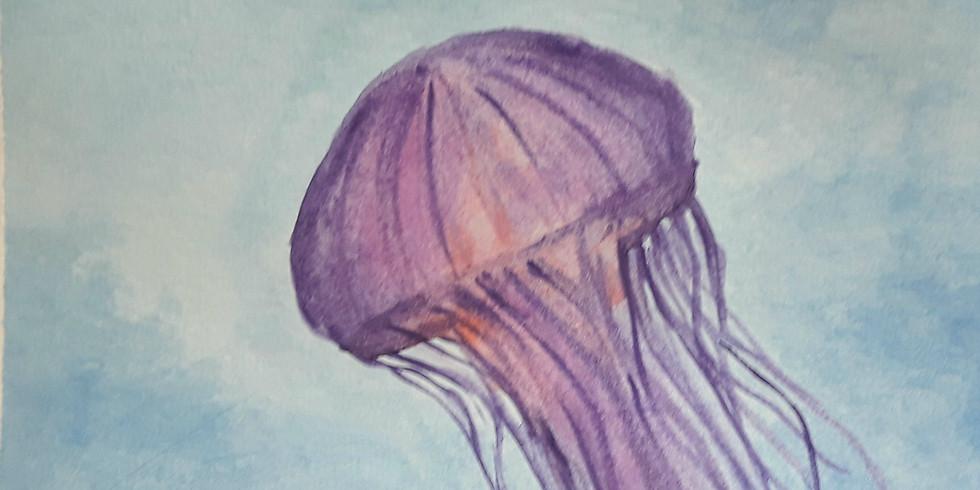 Beginner Watercolor: Jellyfish