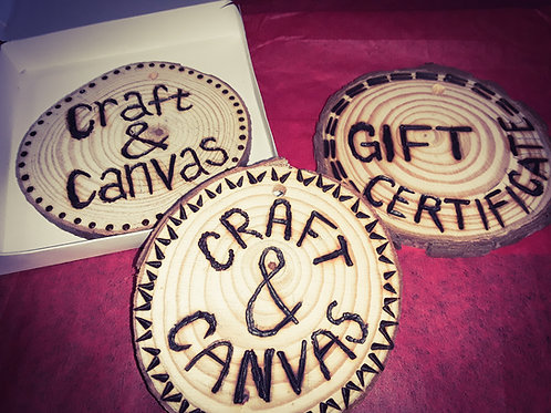 Gift Card to Craft & Canvas