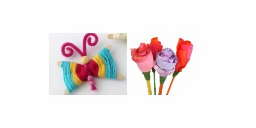 Parent/Child Craft Time: Making spring flowers and butterflies