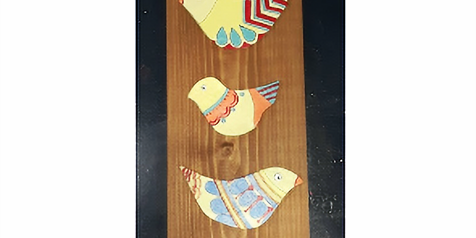 5 Birds, wood and clay