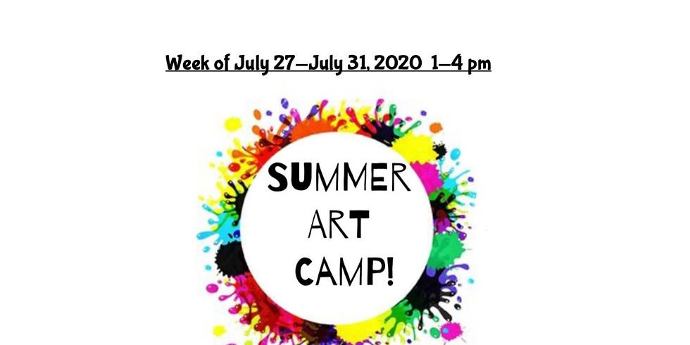 Summer Camp, JULY 27  - JULY 31,  1 - 4 pm, Full Week