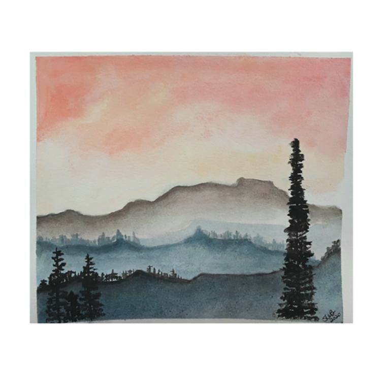 Beginner Watercolor: Mountains