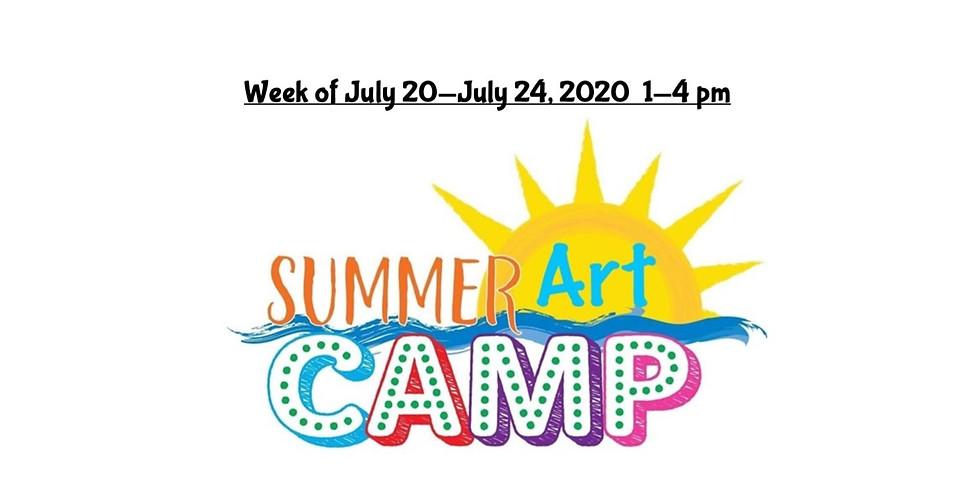 Summer Camp, JULY 20  - JULY 24,  1 - 4 pm, Full Week  (5)
