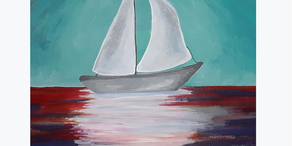 Sip & Paint Sailboat, Online and In-Studio