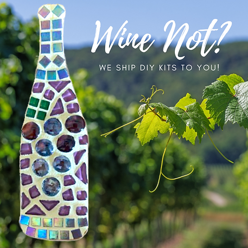 Wine Bottle Mosaic Kit