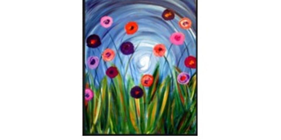 Sip & Paint Flowers in a Field