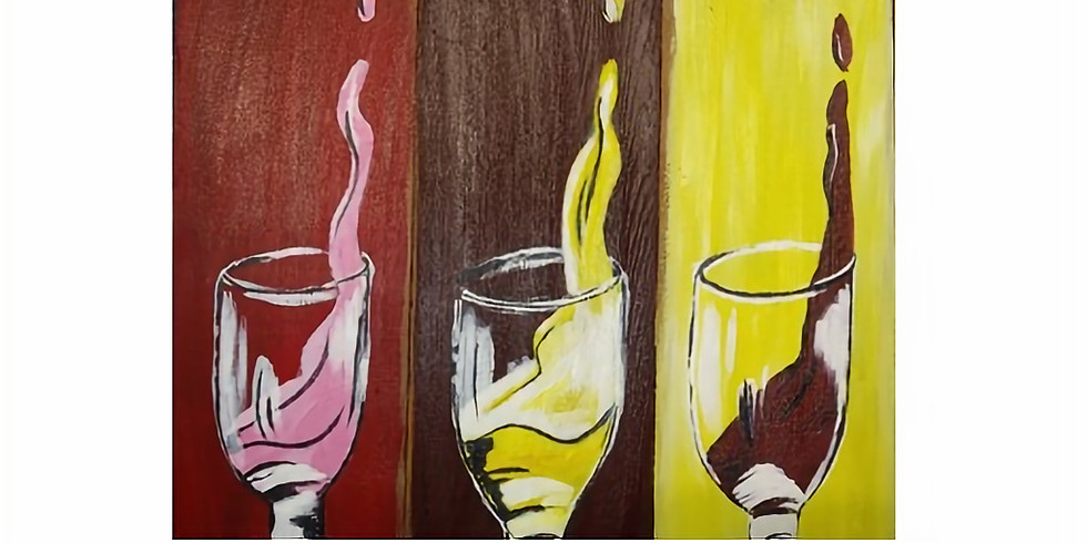 Trivia Sip and Paint!  Wine! Drink it, paint it, answer questions on it.