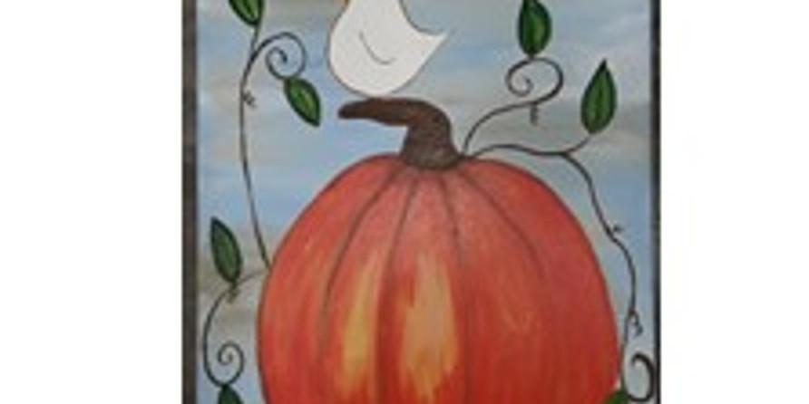 Sip & Paint, Bird on Pumpkin